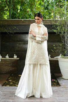 Ravish Pastel Pink ready to wear 3 piece pret frock dress by Baroque Fuschia Collection 2018 Pakistani Wedding Dresses, Indian Wedding Outfits, Pakistani Dress Design, Pakistani Outfits, Indian Outfits, Pakistani Sharara, Desi Wedding Dresses, Eid Dresses, Indian Dresses