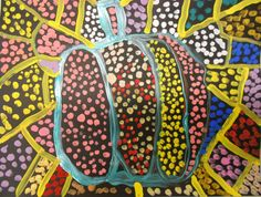 Pumpkins in the style of Yayoi Kusama:  Chesterbrook Academy Elementary