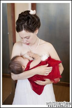 Breastfeeding bride. No matter of the place, occasion, time, and circumstances - breastfeeding is beautiful!