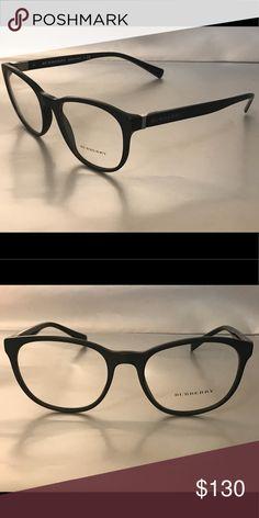 796aab01792 Authentic Burberry Eyeglass Frames Matte Black Frame Shiny Black Arms Burberry  Accessories Glasses Matte Black