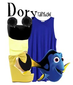 """""""Dory"""" by tallybow ❤ liked on Polyvore featuring See by Chloé, H&M, Anne Klein, Kenneth Jay Lane and Privileged"""