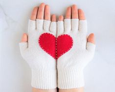 Hand Knit Gray White Wool Mittens Hand Knit Gray White Wool   Etsy Wool Gloves, Knitted Gloves, Fingerless Mittens, Knit Mittens, Romantic Gifts For Her, Valentines Day Gifts For Her, Halloween Accessories, Hand Warmers, Hand Knitting