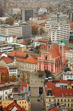 The heart of Ljubljana, Slovenia.