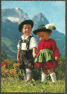 PAREJA NIÑOS TIROLESES - AUSTRIA