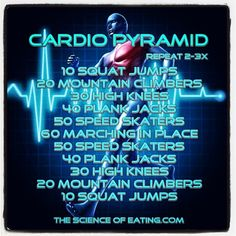 My Cardio Pyramid Workout Wellness Fitness, Fitness Diet, Body Fitness, 100 Calorie Workout, Hiit, Cardio, Pyramid Workout, Circuit Training