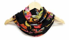 Cotton with Flowers Colorful Infinity Scarf Infinity by HeraScarf, $9.90