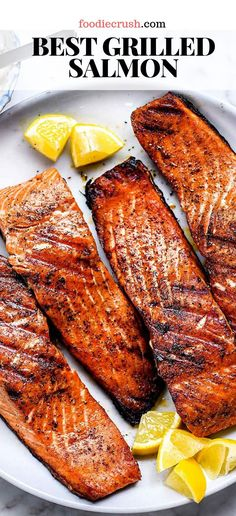 grilling recipes How To Make The Best Grilled Salmon Grilled Salmon Recipes, Healthy Salmon Recipes, Seafood Recipes, Dinner Recipes, Cooking Recipes, Easy Grill Recipes, Grilled Chicken, Healthy Grilling Recipes, Best Grilled Salmon Recipe Ever