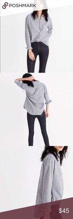 bee314f6eb069c Madewell Flannel Westward Shirt on Stripe