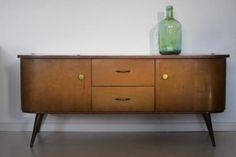 retro vintage laag dressoir kast kastje jaren 50 60