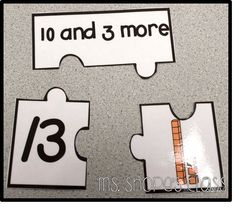 teen place value puzzles