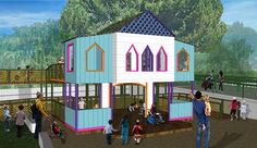 Magical Bridge Playground Playhouse  #myidealmothersday