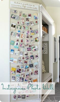 9. Instagram photo wall display