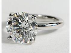 Classic Comfort Fit Engagement Ring  in Platinum #BlueNile