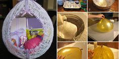 Do it yourself egg shaped Easter basket
