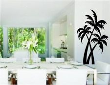 PALM TREE DECOR REMOVABLE VINYL WALL ART DECAL 15 COLORS (PALM4)