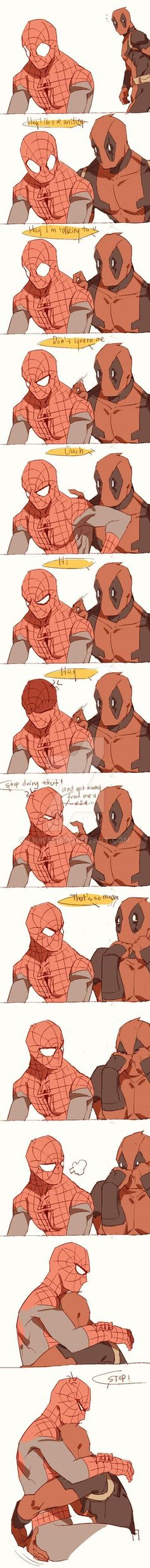 Spideypool212 by LKiKAi.deviantart.com on @DeviantArt - Visit to grab an amazing super hero shirt now on sale!