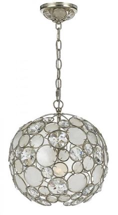 Antique Silver Leaf Wrought Iron Chandelier. Crystal type: Natural White Capiz Shell and Hand Cut Crystal