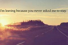 I'm leaving...