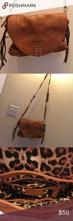 JESSICA SIMPSON CAMEL CROSSBODY brand new never used see pics Jessica Simpson Bags Crossbody Bags