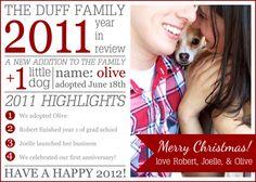 A Year in Review Christmas Card: great for catching up distant relatives