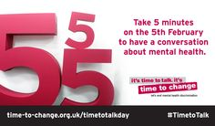 Time To Talk Day. A chance to discuss #mental #health issues with Great Yarmouth and Waveney #Wellbeing Service Feb 5th 2015
