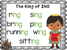 King of ING Word Sort and Craftivity