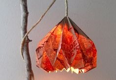 There's so much to be done with brown paper bags. This amazing pendant light was created with little more than a paper bag and a little DIY know-how. Get more info here.