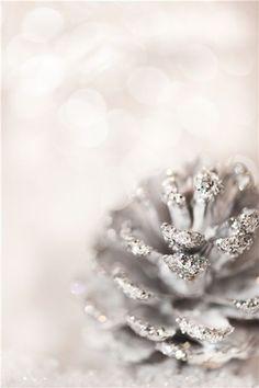 #christmas decoration #DIY glittery pinecones