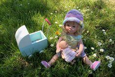 Ballade pour Adeline + tuto robe printanière Océane pour poupée Marieta 36 cms ou poupée Witchel
