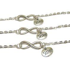 3 Sisters Infinity Bracelets by CharminTreasureChest on Etsy
