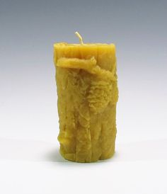 Beeswax Pinecone Log Candle Rustic Candle by GardenGateDesign