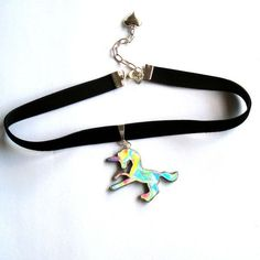 Holographic Unicorn Choker Hologram Choker 90s grunge jewelry rainbow... ($27) ❤ liked on Polyvore featuring jewelry, necklaces, unicorn pendant, pendant necklace, pendant choker necklace, choker necklace and chain necklaces