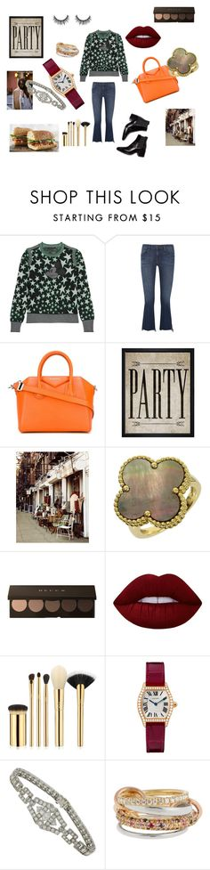 """""""Autumn fairy tales"""" by maria-chamourlidou ❤ liked on Polyvore featuring Marc Jacobs, Frame Denim, Givenchy, Hatcher & Ethan, WALL, Van Cleef & Arpels, Lime Crime, tarte and SPINELLI KILCOLLIN"""