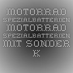Motorrad Spezialbatterien - Motorrad Spezialbatterien mit Sonder Kontaktarten