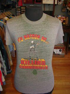 Vtg 80s 1982 I'D Rather Be Killing Communists Paper Thin T Shirt L XL Metal Army | eBay