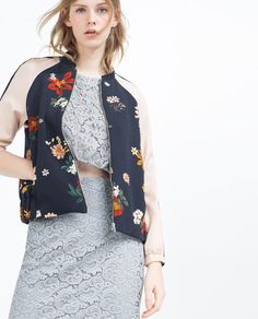 Image 5 of PRINTED BOMBER JACKET from Zara