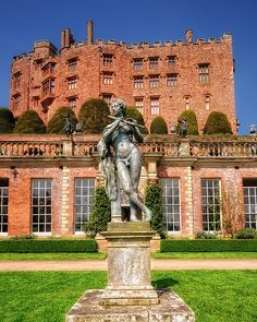 Powis Castle, Wales, UK. Built in the 13th century as a fortress for Welsh Princes. Powis Castle Welshpool now boasts glorious terraced gardens constructed in the 17th century