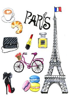 'Paris' by Rongrong DeVoe Graphic Art on Wrapped Canvas