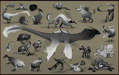 Cartoon Creatures by *EsbenLash on deviantART, Character Design, Draw, sketch, art , design, cartoon creatures