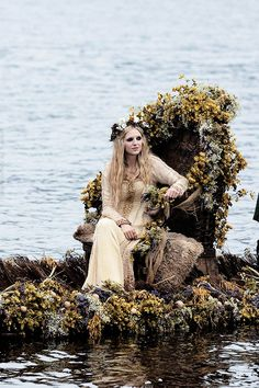 """thedeerandtheoak: """" If I ever get married, I want a wedding just like this one. """" Maude Hirsch as Helga in Vikings, She's on the way to her wedding to Floki. Lagertha, Ragnar Lothbrok, Floki, Vikings Tv Show, Vikings 2, Vikings Tv Series, Vikings Season, Katheryn Winnick, Travis Fimmel"""