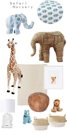 Safari Nursery with Rikshaw Design + A giveaway (Sarah Tucker) - Modern Safari Theme Nursery, Jungle Nursery, Animal Nursery, Nursery Themes, Girl Nursery, Nursery Decor, Nursery Ideas, Safari Bedroom, Elephant Nursery