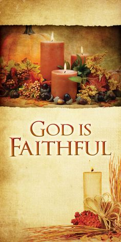 Church Banner - Fall & Thanksgiving - God Is Faithful Thanksgiving Iphone Wallpaper, Church Banners, Faith In God, Ship, Printed, Business, Fall, Fabric, Tela