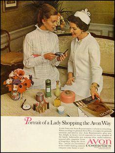 1968 vintage ad for Avon Cosmetics: http://www.avonrepresentative.com/anniewood
