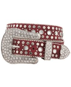 Red Ranch Bling Western Belt