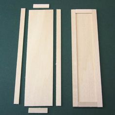 Make a Basic Doll's House Cupboard or Armoire With Opening Doors: Cut the Parts For the Dollhouse Armoire or Cupboard Doors
