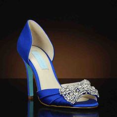 Gown-ES by Betsey Johnson. Choose from the largest selection of wedding shoes from top designers at My Glass Slipper. In-stock styles ship same day. Royal Blue Wedding Shoes, Dyeable Wedding Shoes, Hot Shoes, Crazy Shoes, Betsey Johnson Wedding Shoes, Designer Wedding Shoes, Badgley Mischka Shoes, Bride Shoes, Evening Shoes