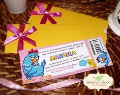 Convite Galinha Pintadinha Ingresso