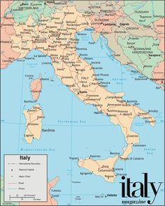 Free Map Of Italy.Map Of Italy Showing Cities Free Large Images Travel In 2019