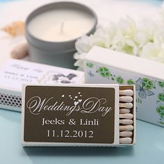 Personalized Matchboxes - Hearts Prints (Set of 12) – USD $ 8.99