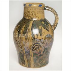 Ceramic jug, made by Jessie Marion King </br> Reproduced by permission of Dumfries and Galloway Council and the National Trust for Scotland, as copyright holders